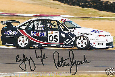 Peter Brock SIGNED 1997 6x4 PHOTO PRINT V8 Supercars HOLDEN BATHURST 05 MOBIL