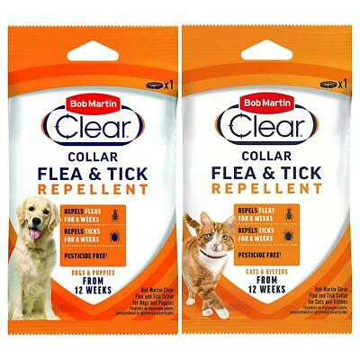 Flea and Tick Collar for Dog or Cat Bob Martin Clear Flea Prevention