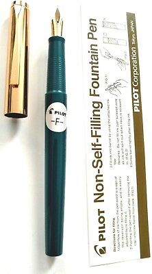 Pilot 'Tank' Non-Self-Filling Fountain Pen - Fine Nib- eye dropper - Black Body