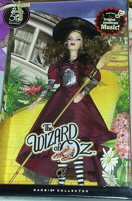 NIB Barbie 50th Anniversary Wizard of Oz Wicked Witch of The East Silver Label
