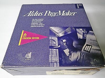 VINATAGE ALDUS PAGEMAKER EDUCATION VER. 4.2A AND 5.0 w/4.0 MANUALS AND PDD DISKS