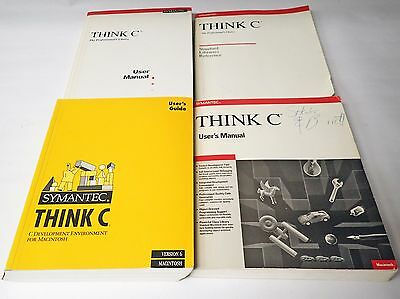Lot Of 4 Symantec Think C User Manuals/guide And Library Reference For Macintosh