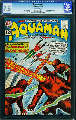 Aquaman #1 CGC 7.5 First issue DC key issue Silver Age comic 1962 1208512001