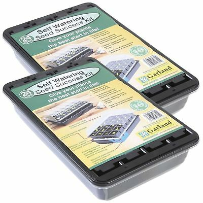 2 x Garland 24 Cell Self Watering Seed Success Kit Propagator Seeding Plant Tray