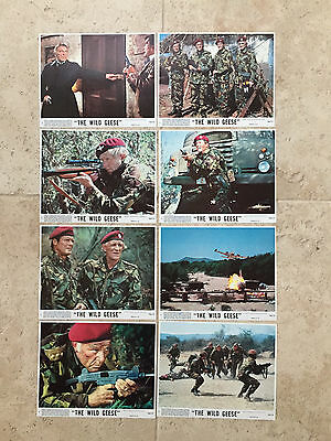 The Wild Geese Set of 8 LC 1978 Roger Moore Richard Burton Richard Harris