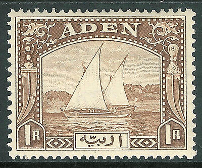 Aden 1937 brown 1r very lightly mounted mint SG9