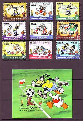 a131 - DOMINICA - SG792-MS801 MNH 1982 DISNEY - WORLD CUP FOOTBALL CHAMPIONSHIPS