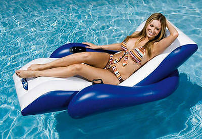 Intex Inflatable Floating Recliner Lounger Chair Air Bed Seat Lilo Pool Float