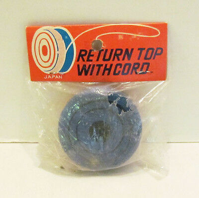 VINTAGE RETURN TOP WITH CORD WOODEN YO YO MADE IN JAPAN MIP UNUSED NOS 1950's