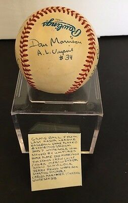 Game Ball Toronto Blue Jays Final Game Exhibition Signed Baseball By Umpire Crew