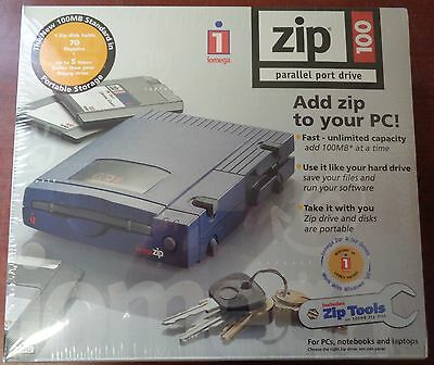 New Iomega Zip 100 External Drive for PC Parallel Port #10012