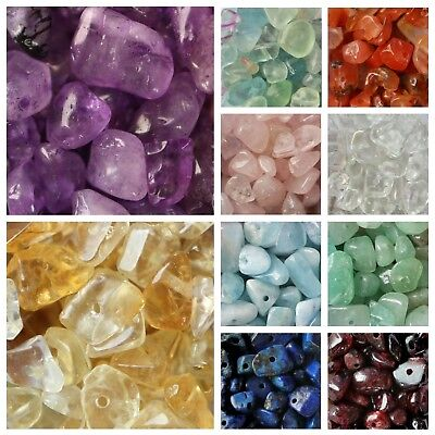 Mixed Mix Genuine Gemstone Chip Beads 5-8mm Boxed Chakra Healing Reiki Rainbow