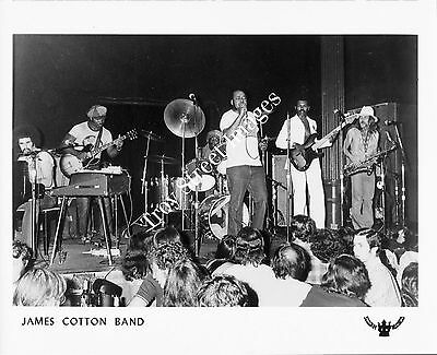 Orig 8x10 promo photo #6 of blues harmonica great JAMES COTTON 7 band, mid 1970s