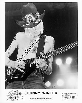 original promo photo #1 of blues guitarist and singer JOHNNY WINTER, mid 1980s