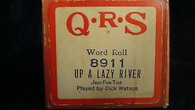 """Lazy River"" - QRS 8911 Player Piano Word Roll"
