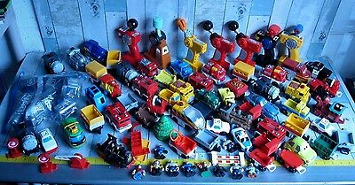 Fisher Price GEO TRAX Locomotive TRAIN CARS & CONTROLLERS Figures & MORE! LOT