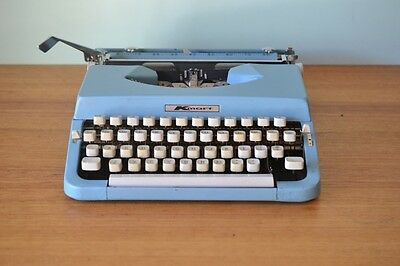 Vintage Blue Nakajima Typewriter industrial portable retro Kmart Model 2000