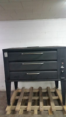 Blodgett 981 Double Stone Deck Pizza Oven Propane 1 Cracked Stone Tested