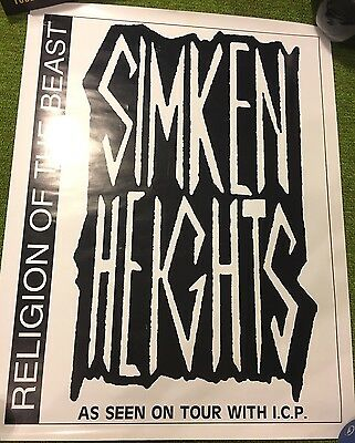 Simken Heights - Religion Of The Beast Horrorcore Rap PROMO POSTER ICP TOUR HTF