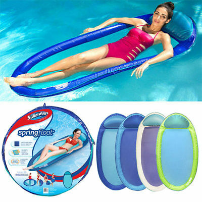 SwimWays Spring Float Original Swimming Pool Lounger - colours may vary 6038044