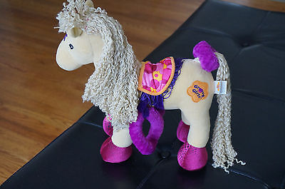 PLUSH Groovy Girls Stuffed HORSE Doll Calypso Brown Bendable Poseable Legs 12""