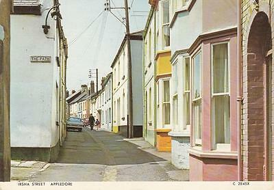 Vintage Colour Photo Postcard - Irsha Street, Appledore (Devon)