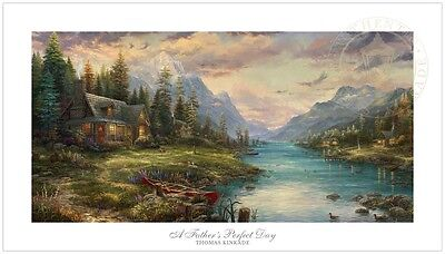 Thomas Kinkade Studios Father's Perfect Day 18 x 36 S/N LE Paper