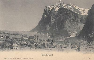 Vintage B+W Photo Postcard - Switzerland - Grindelwald