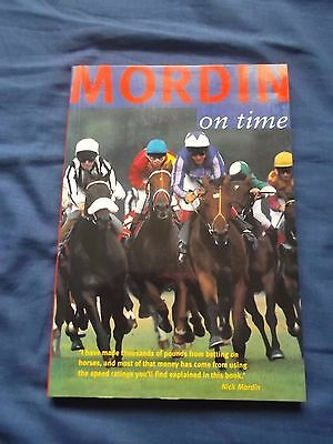 Mordin on Time by Nick Mordin Horse Racing Gambling Rare