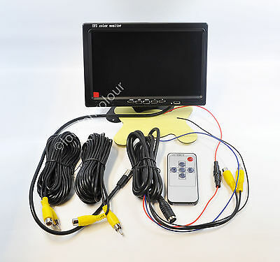 """7"""" TFT Screen LCD Colour Car RearView Dashboard Headrest Monitor 2-Channel"""