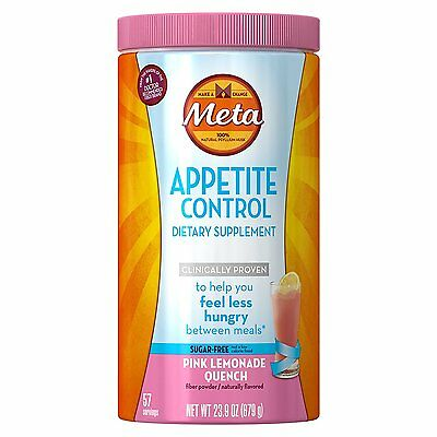 Metamucil Appetite Control Weight Loss Pink Lemonade Quench Sugar Free