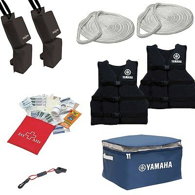 Yamaha Waverunner Jet Ski Starter Kit Life Vests First Aid Kit Dock Rope + More
