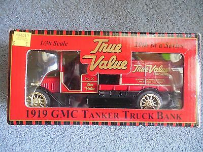 True Value 1919 GMC Tanker Truck Bank