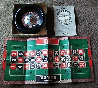 Vintage 1940's E.S. Lowe Roulette Game in Box No 37 NY NY