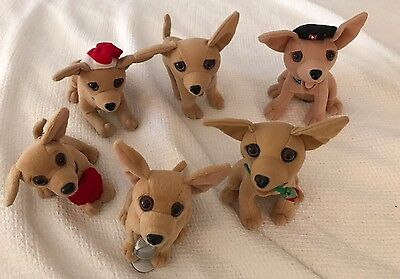 TACO BELL ~ Lot of 6 CHIHUAHUA TALKING DOGS~ Late 1990's - All WORKING except 1