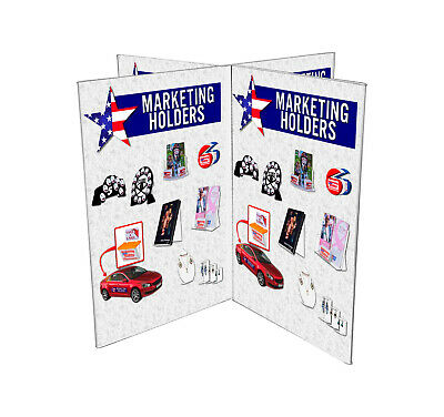 "Multi Panel Ad Frame 6""W x 9""H Sign Holder 8 Sided Table Sign Holder"