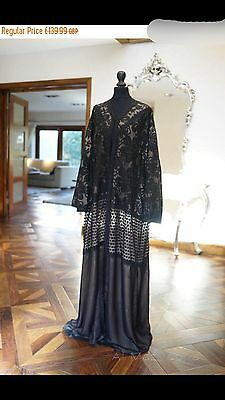 20% OFF SALE*LUXURY COLLECTION* Al Mazyoona Black Abaya Dubai Arabic Kaftan Maxi