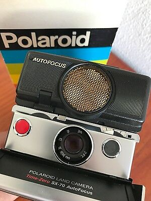 Polaroid Sx 70 Land Camera Sonar Onestep in Box Fully Tested!!Excellent!!Wow!!!
