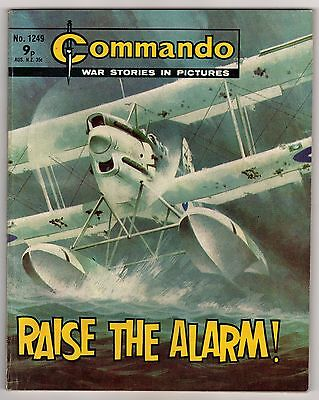 Commando War Stories In Pictures - #1249 Raise The Alarm!, 1978 Comic