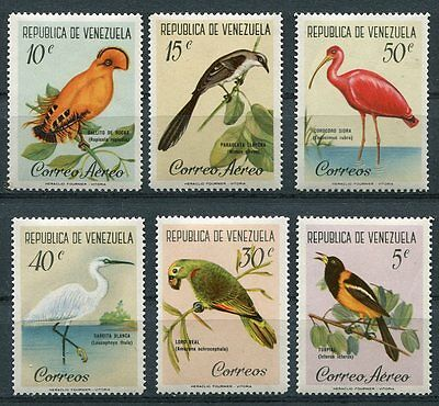 Venezuela 1961 Birds Set Of 6 Stamps Mint Complete - $9.55 Value!