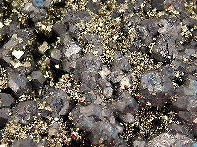 A BIG 100% Natural PYRITE Crystal Cluster With GALENA Crystals From Peru 952gr e