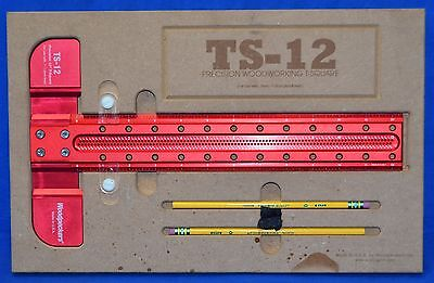 """Woodpeckers TS-12 Precision Woodworking 12"""" T-Square"""