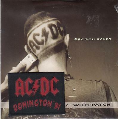 "Ac/dc - ""are You Ready"" - Uk 7"" Vinyl Picture Sleeve  Single With Patch B8830X"