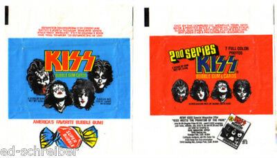 KISS  SERIES # 1 & # 2 GUM CARD WRAPPERS Great Condition    K I S S