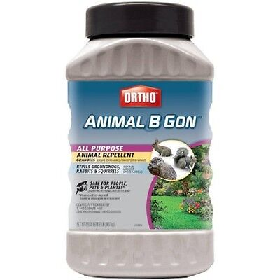 Ortho Animal B Gone Repellent Granules Groundhogs Rabbits Squirrels 2lbs