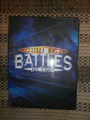 Full Binder of Dr Who Battles in Time Trading Cards OVER 433 cards JOB LOT