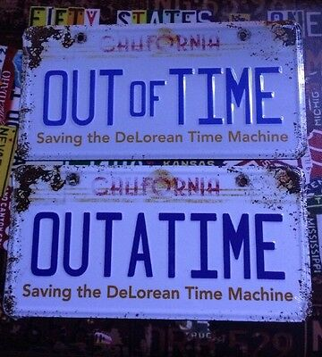 Back To The Future **Documentary** American Licence Plates Rare