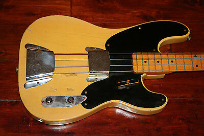 1952 Fender Precision Bass, Blonde, Black Guard  (FEB0316)