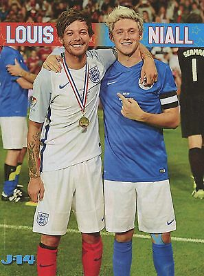LOUIS TOMLINSON & NIALL HORAN - ONE DIRECTION - J-14 magazine CLIPPING - PINUP