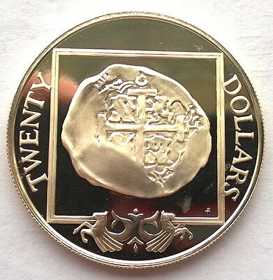 British Virgin 1985 Spanish Colonial 8 Reales 20 Dollars Silver Coin,Proof
